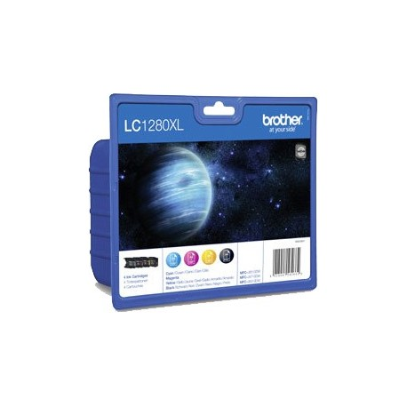 PACK TINTAS ORIGINALES BROTHER LC1280XLVALBP