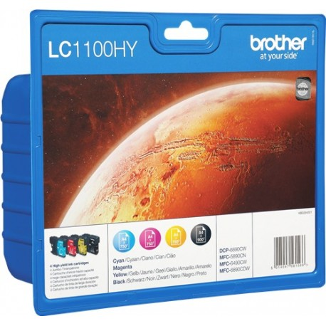 PACK TINTAS ORIGINALES BROTHER LC1100HYVALBP