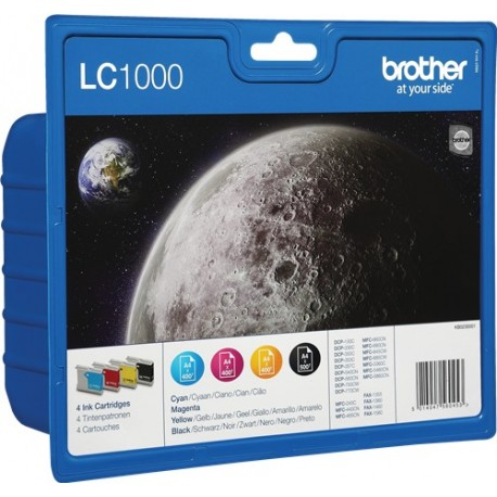 PACK TINTAS ORIGINALES BROTHER LC1000VALBP