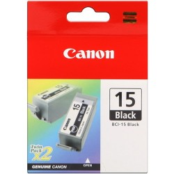 TINTA CANON BCI-15BK NEGRO PACK 2 UNID.