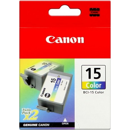 TINTA COLOR CANON BCI-15CL PACK 2 UNID.