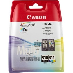 PACK TINTA NEGRO + COLOR CANON PG-510 Y CL-511