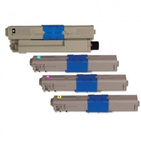 PACK TONER GENÉRICO OKI C510 - 4 COLORES