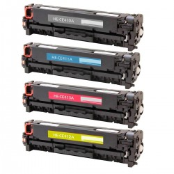 PACK TONER GENÉRICO HP 305A - 4 COLORES