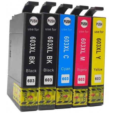 TINTA COMPATIBLE EPSON 603XL - PACK 5